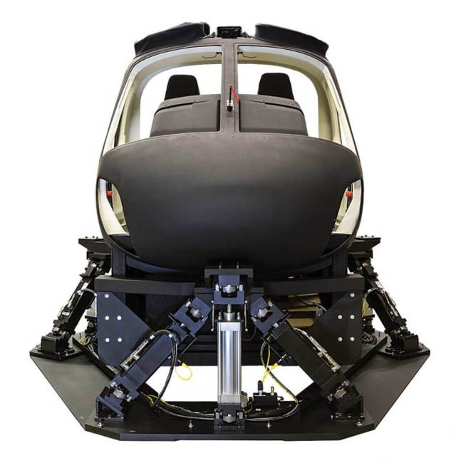 A Frasca AS350 Level 7 flight training device.