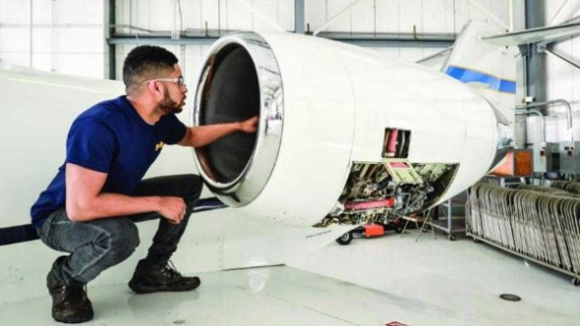 PIA's Youngstown campus has been training certified and work-ready aviation maintenance technicians with a 16-month diploma program in Aviation Maintenance Technology since 2006. PIA Photo