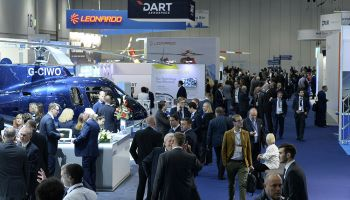 The current format of the Helitech show appears to provide good business-to-business opportunities for exhibitors, but some have questioned whether enough pilots, maintenance technicians and crews are attending. Helitech Photo