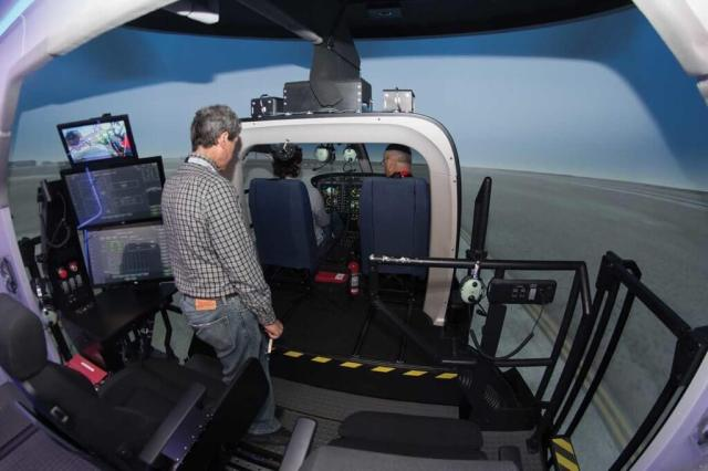 The center offers initial type and recurrent training exclusively on the Bell 429. The initial type rating course lasts 10 days, and includes 24 flying hours. Lloyd Horgan Photo