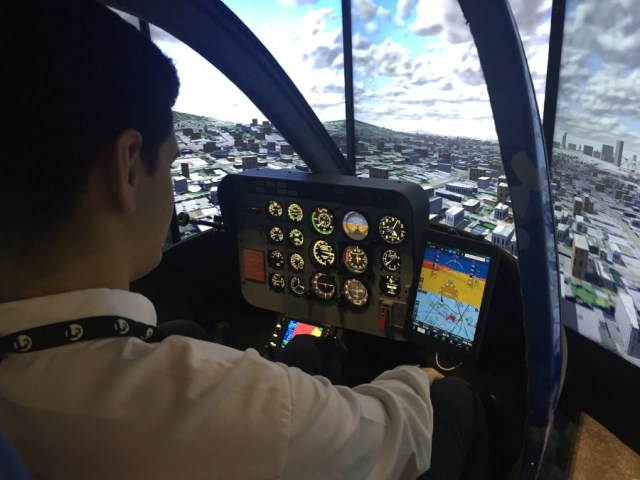 With the certification for the helicopter simulator, training schools can now offer a safer and more cost-effective way to train helicopter pilots. Ryan Aerospace Photo