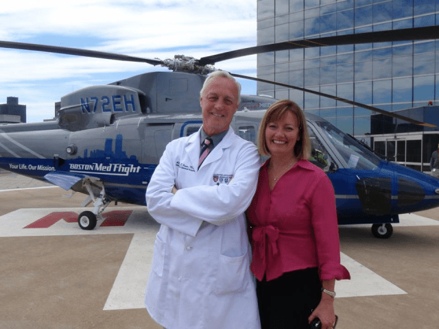 Dr. Suzanne Wedel followed her husband, Dr. Alasdair Conn, as chief executive of Boston MedFlight. She is credited with expanding the scope of the air ambulance service. Lockheed Martin Photo