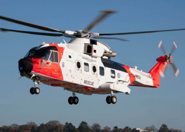 The AW101 features a large cabin, over 1,300-kilometer range, high cruise speed, all-weather operating capability, high reliability and safety. Leonardo Photo