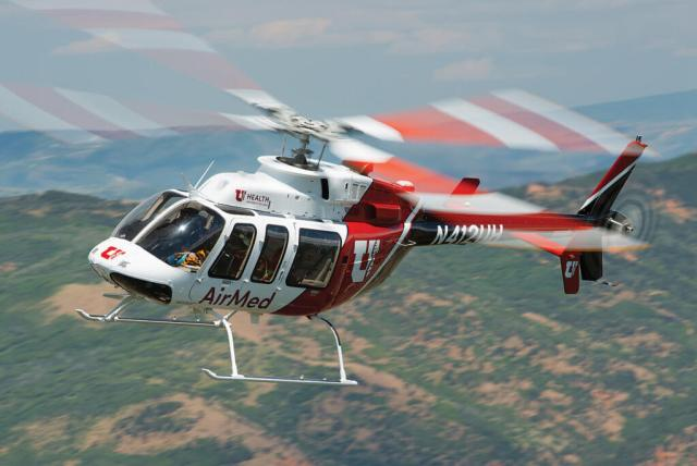 The Bell 407 is well suited to the challenges faced daily by AirMed crews, providing performance and versatility to work in high and hot environments, and into/from confined areas. Dan Megna Photo