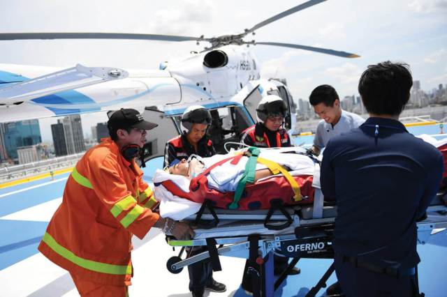 Most of the program's transfers are trauma, cardiac, and other types of emergency cases. Anthony Pecchi Photo