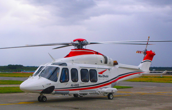 P&WC will power Abu Dhabi Aviation's fleet of Leonardo AW139s with its PT6C-67C engines. Abu Dhabi Aviation Photo