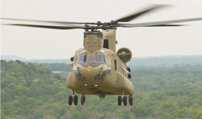 Timken Aerospace Drive System's AS9110C certification will allow the company to expand its overhaul and repair opportunities, such as on the CH-47 Chinook platform. Boeing Photo