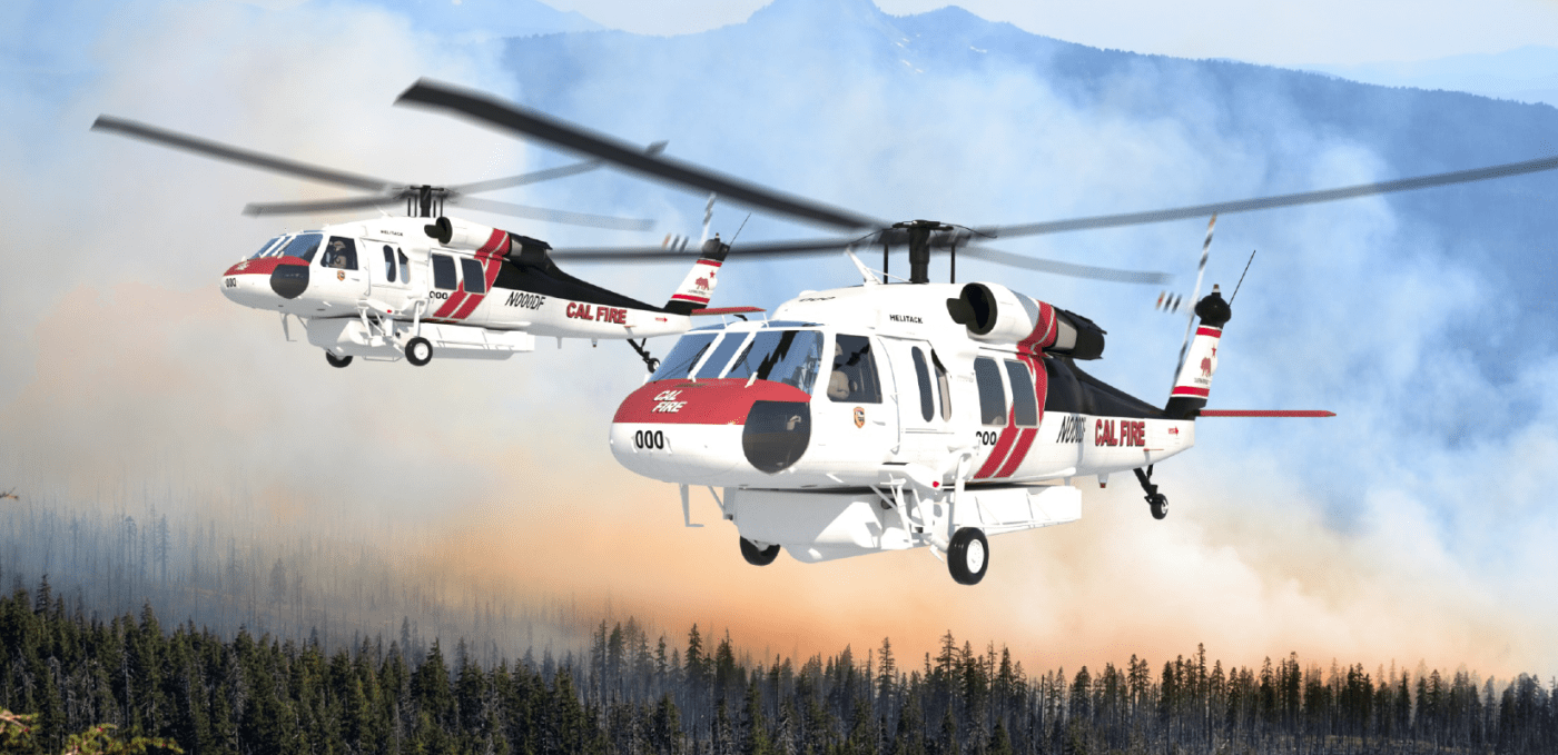 Despite having a more expensive proposal, the Air Methods division United Rotorcraft has prevailed in its bid to supply Cal Fire with up to 12 S-70i Black Hawks for aerial firefighting. United Rotorcraft Image