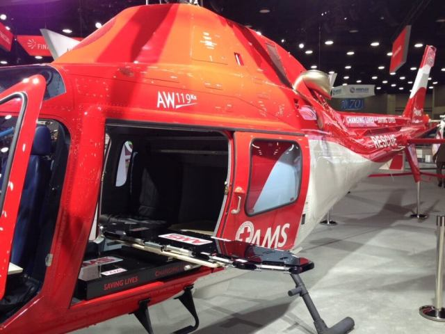 The interior has been selected by the South African Red Cross to be installed on its three new AW119Kx helicopters and on another five helicopters that will join the fleet in 2018 and 2019. AMS Heli Design Photo