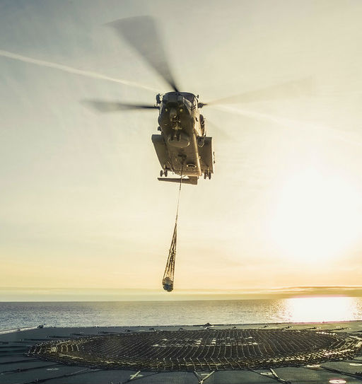Asterix used an RCAF CH-148 Cyclone to demonstrate leading capabilities of the Resolve-Class Naval Support Ship. Davie Shipbuilding Photo