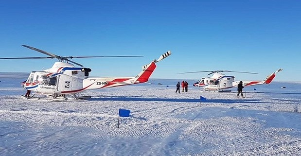 The helicopters have already started operating in the Dronning Maud Land in Northern Antarctica for the South African Antarctica program, but are also providing aerial support to international scientific teams as well as back up search-and-rescue throughout Northern Antarctica. Ultimate Heli Photo