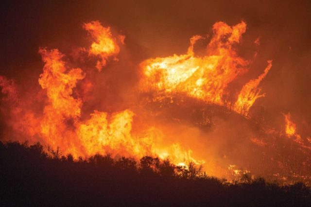 In its first days, the Thomas Fire demonstrated extreme fire behavior, at times burning at a rate of nearly an acre per second. MSAVI Photography