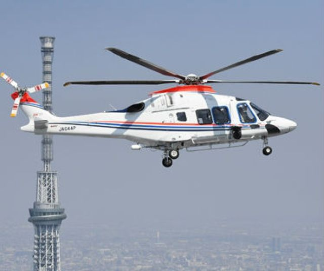 The helicopter with special configuration will enter service in 2021 adding to one AW169 sold to Asahi Shimbun newspaper. Leonardo Photo