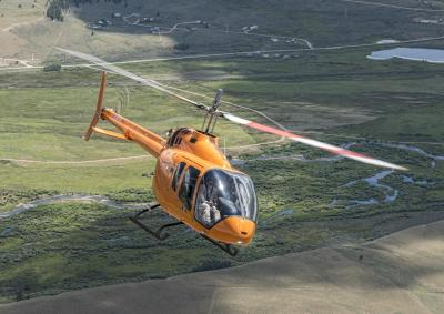 the Bell 505 is integrated with a flat floor, open cabin that is configurable for a wide variety of missions and payloads.