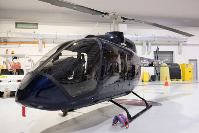 The 505's cabin can be configured to carry up to four passengers or configured for internal cargo missions by quickly removing disconnect rear cabin seats and/or copilot seat. Bell Helicopter Photo