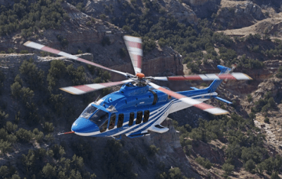 Bell has completed critical design review and approved PPG's design for the composite windshields, which will have an outboard ply of stretched acrylic with a scratch-resistant coating and an inboard polycarbonate ply for enhanced strength. Bell Helicopter Photo