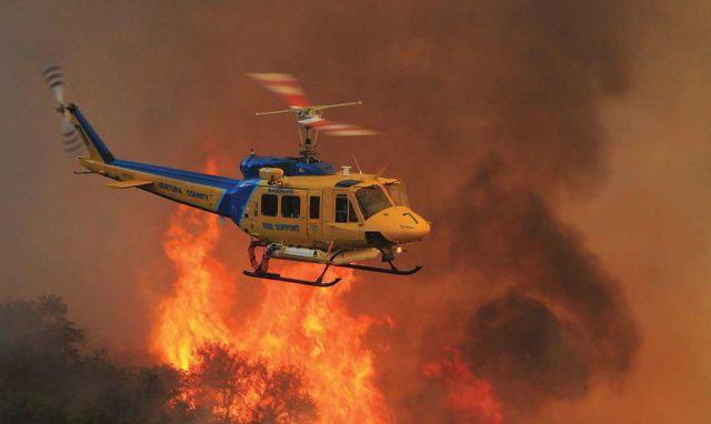 Ventura County Aviation Unit's Copter 7, a Bell 205