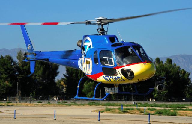 Helinet Airbus AS350 drone strike
