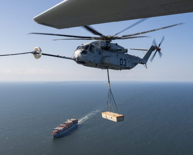 US Marines CH-53K with external load