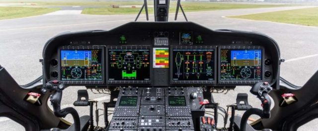 The AW149 features a state-of-the-art digital glass cockpit. Leonardo Photo
