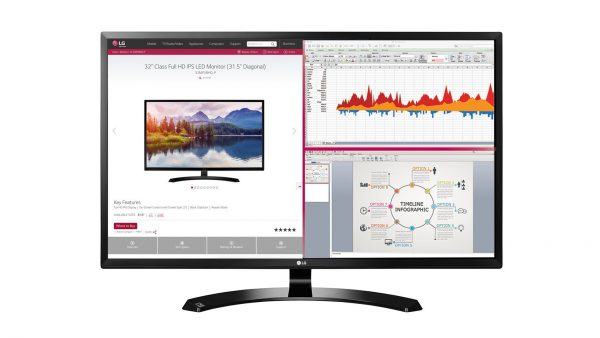 LG 32 inch IPS monitor with display port