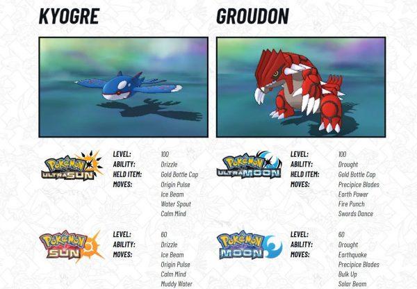 legendary pokemon kyogre and