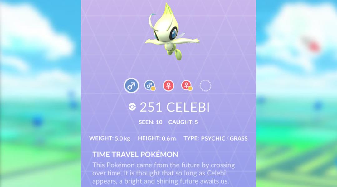 Pokemon Go Celebi Quest: A Ripple in Time special research