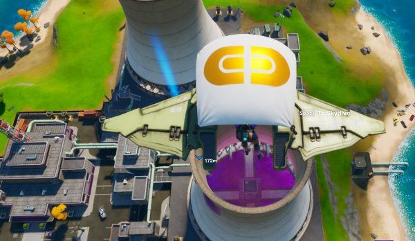 Fortnite: Capítulo 2 - Salta en paracaídas a través de anillos en Steamy Stacks 10