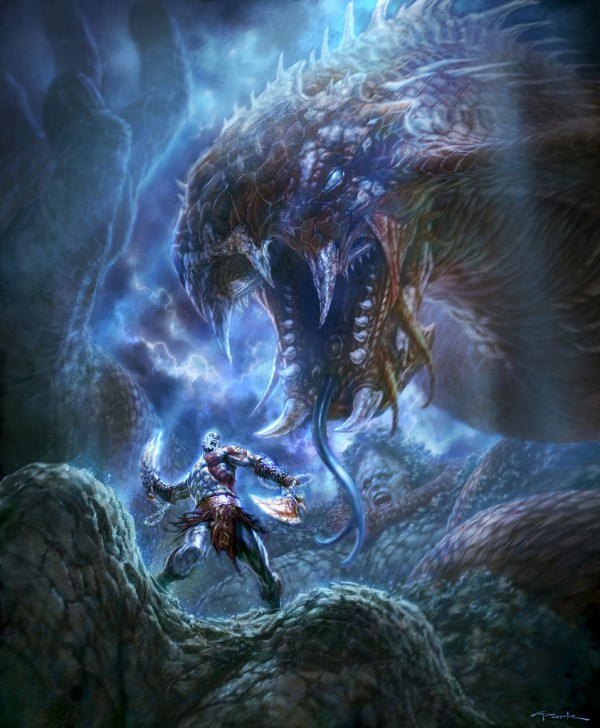 Monsters take center stage with these God of War III art