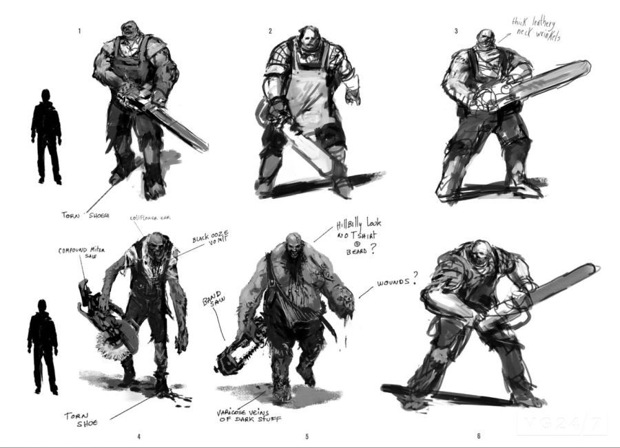 Never-before-seen concept art from Alan Wake American