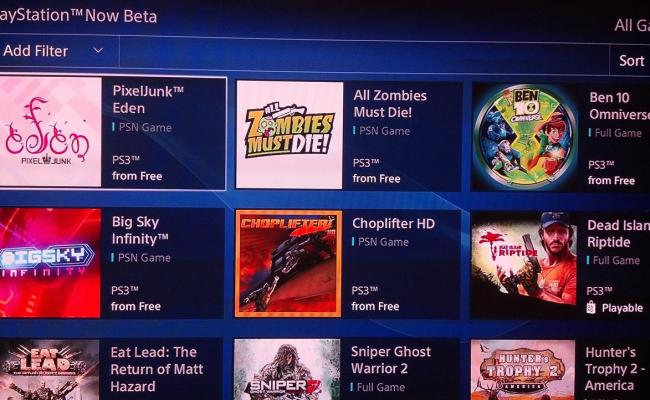 Playstation Now Beta Gets Six New Games But Those High