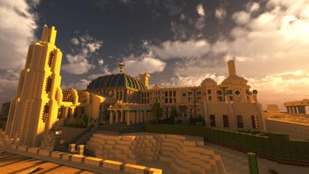 minecraft desert huge player built finished yet vg247 block area even