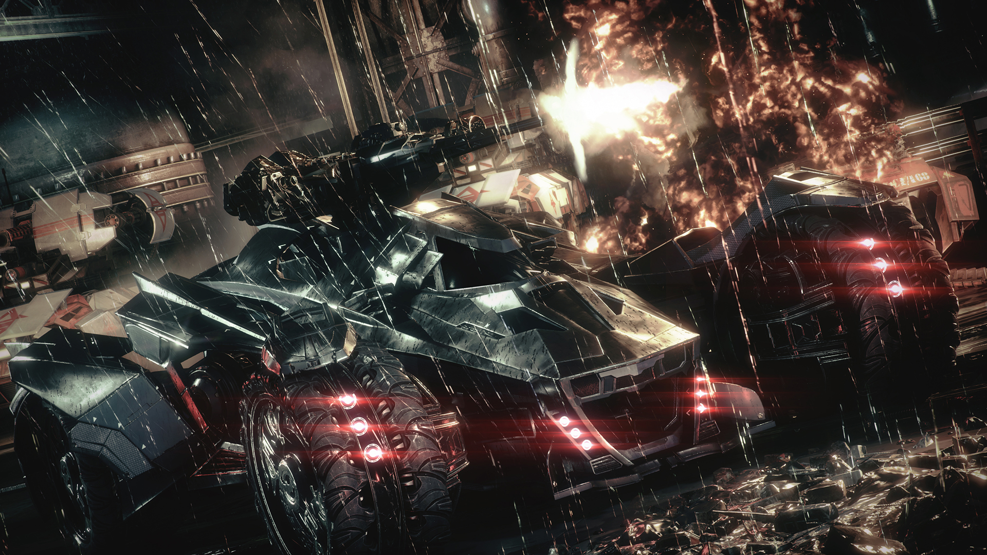 The Batmobile Looks Badass In These Batman Arkham Knight