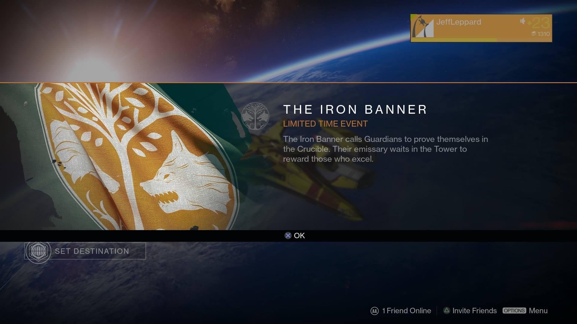Destinys Iron Banner Is No Longer Live Bungie Explains Why UPDATE VG247