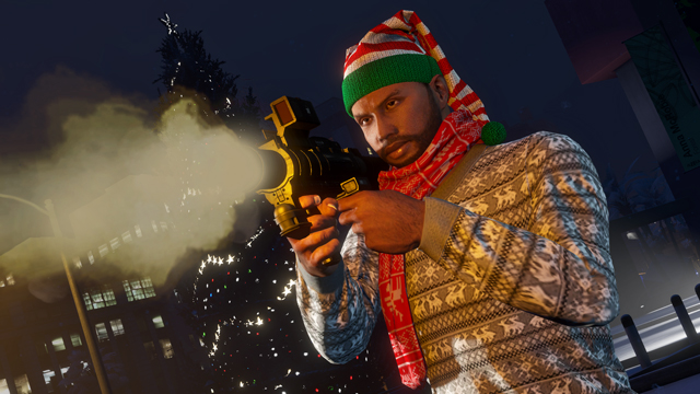 Happy Girl In Snow Wallpaper Gta Online Festive Surprise Is Live Homing Launcher New