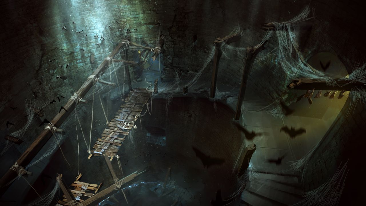 Wolfenstein The Old Blood artwork shows the catacombs