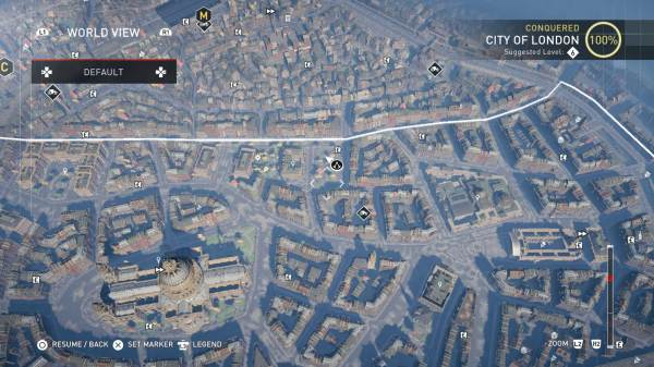Assassin's Creed Secrets Map of London Syndicate