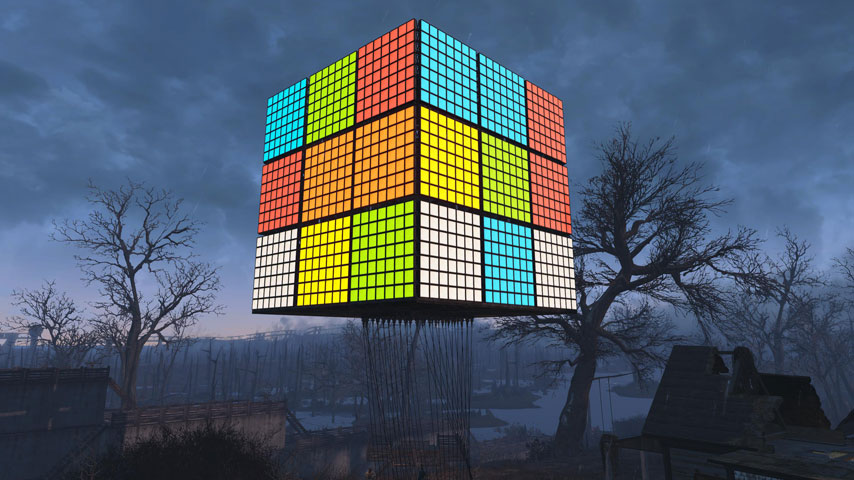 Amazing Fallout 4 Build Giant Working Rubiks Cube VG247