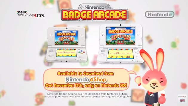 Nintendo Badge Arcade Out Friday In EU Trailer Shows