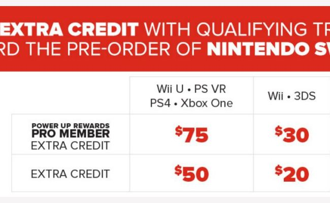 Gamestop Now Taking Switch Pre Orders Earn Up To 75