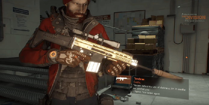 The Division Patch 16 Tenebrae Exotic Marksman Rifle Review VG247