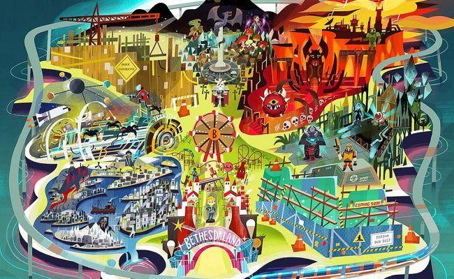 Bethesda S E3 Invite Features Game Themed Amusement Park