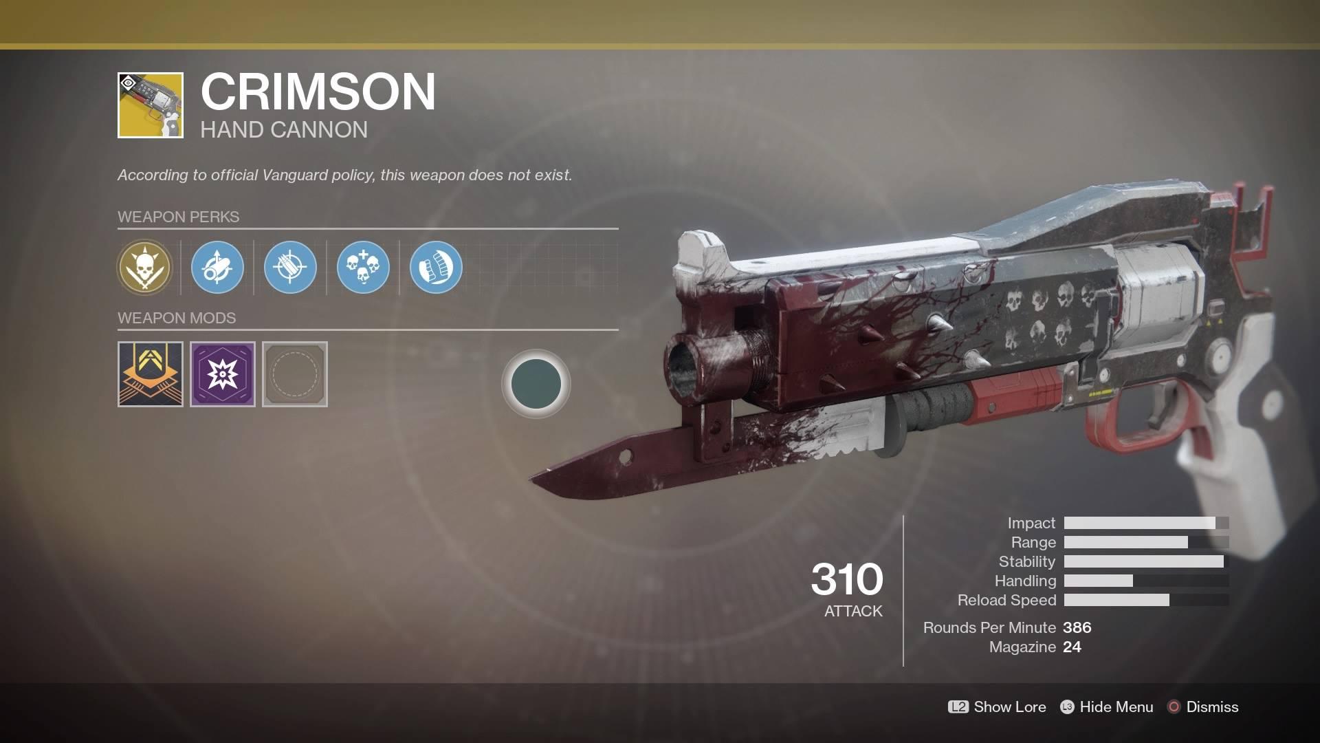 Destiny 2 Curse Of Osiris Check Out The Crimson A Red