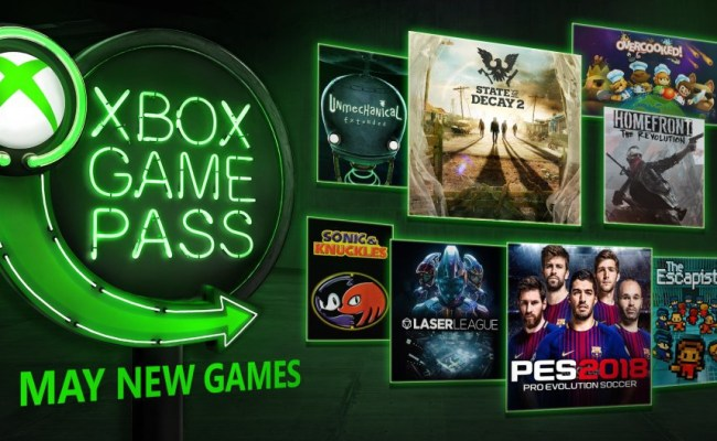 Pes 2018 State Of Decay 2 Hit Xbox Game Pass In May