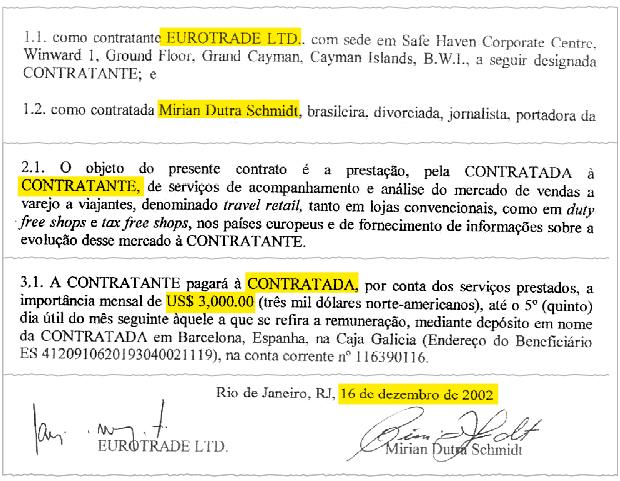 Mirian Dutra contrato