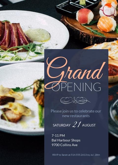 grand opening invitation invitation