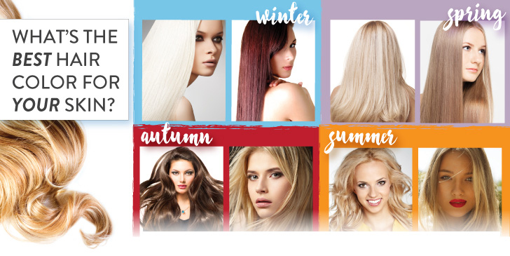 Whats The Best Hair Color For Your Skin INFOGRAPHIC