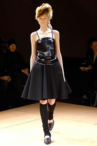 Junya Watanabe dress in black wool and PVC, Fall 2005 women's collection