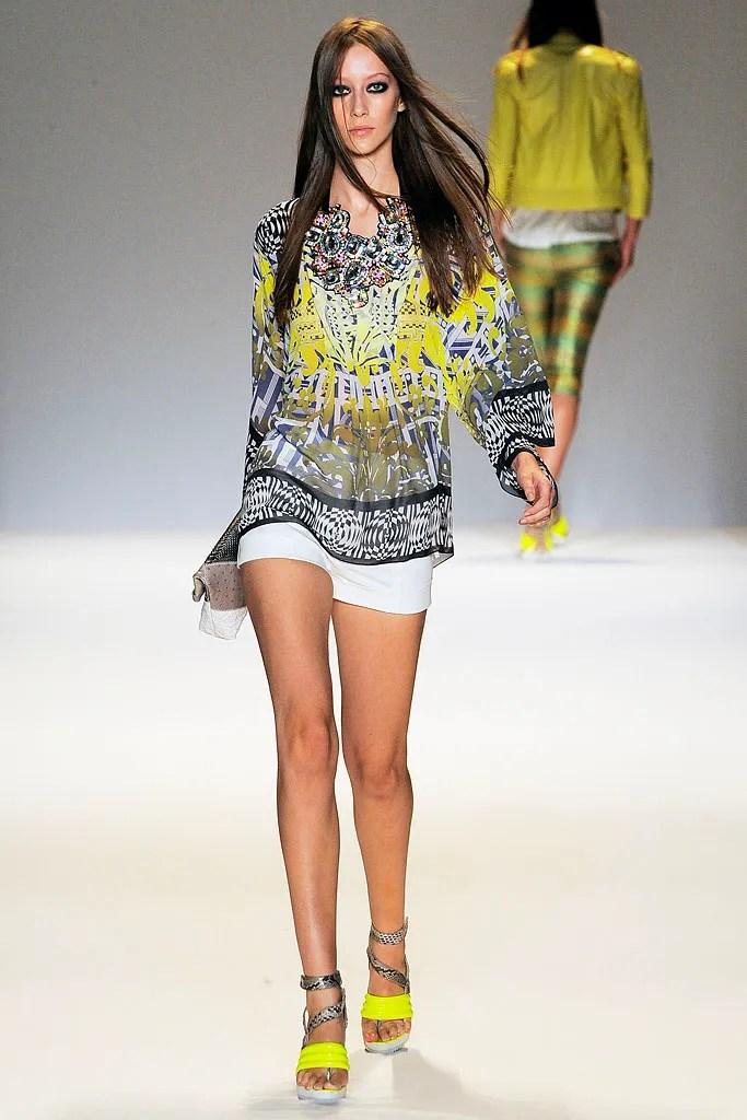 Alana Zimmer models a Matthew Williamson caftan