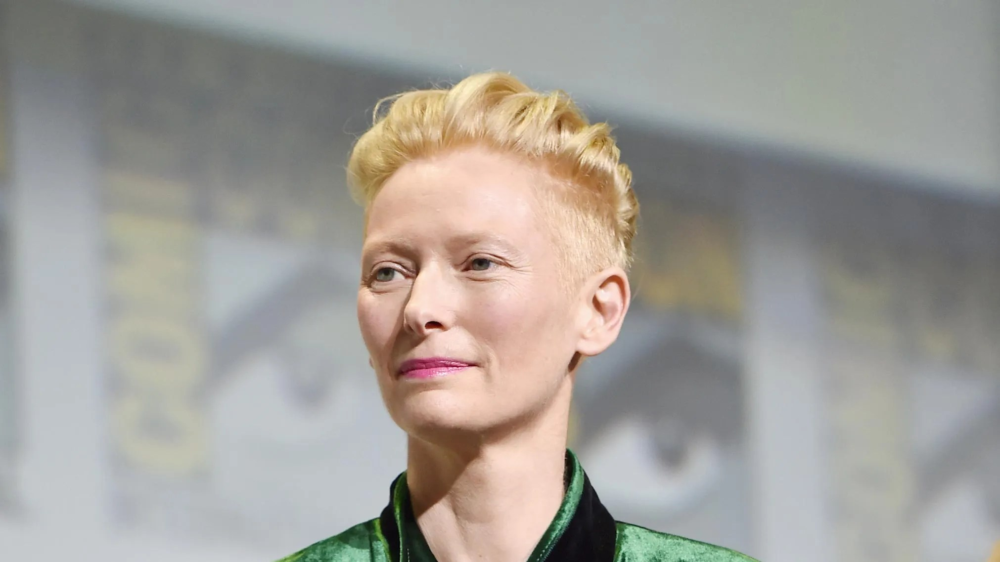 Tilda Swinton Wears a Velvet Haider Ackermann Suit to